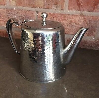 Vintage OLD HALL Staybrite Stainless Steel Teapot & Tray