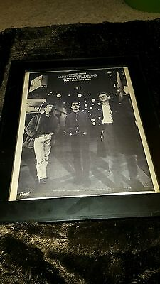Crowded House Something So Strong Rare Original Radio Promo Poster Ad Framed!