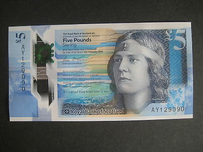 GREAT BRITAIN - ROYAL BANK OF SCOTLAND £5 NEW POLYMER 11th FEBRUARY 2016 - UNC
