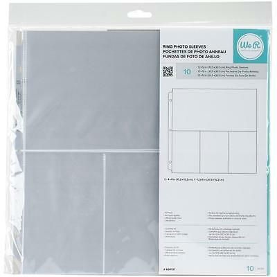 "Lot Of 3 Pkgs-We R Memory Keepers Photo Sleeve 12""X12"" 10/Pkg-633356500353"
