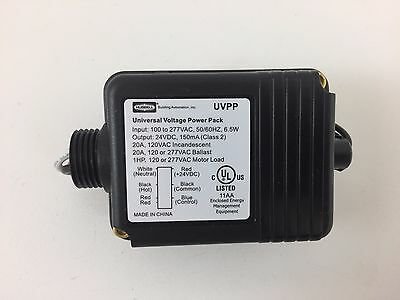 New Hubbell UVPP Universal Voltage Power Pack 100-277VAC 24VDC 150mA 6.5W Black