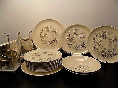 Stetson Marcrest GAY NINETIES 47 Pieces DINNERWARE Cake Dinner Serving Bowls