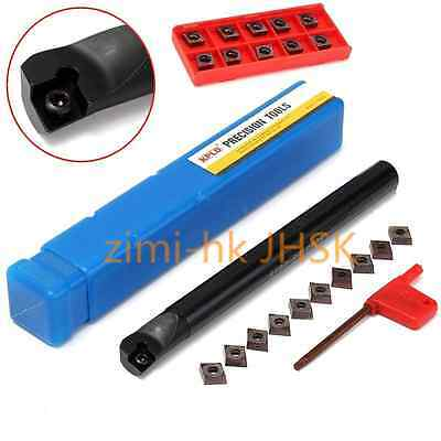 10Pcs CCMT09T3 Inserts With S16Q-SCLCR09 16x180mm Boring Bar Turning Tool Holder
