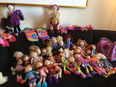 Large Groovy Girls Lot 37 Dolls, 70 pieces Includes Furniture Clothes Some New