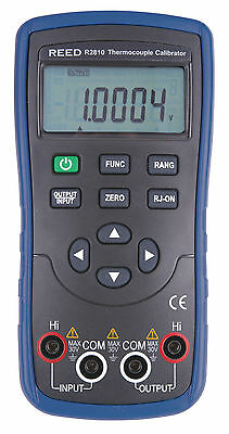 REED R2810 Thermocouple Calibrator. Source & Measure 8 Types of Thermocouples