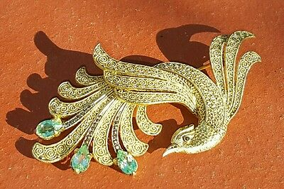 *Vintage Art Deco Theodor Fahrner Sterling Silver Gold Bird Brooch ONLY
