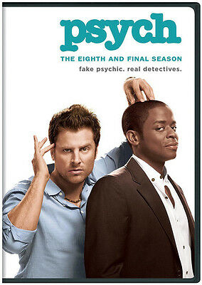 Psych: The Eighth & Final Season - 3 DISC SET (2016, DVD New)