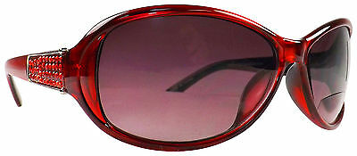 Infini Womens Red Sun Reading Glasses Readers +2.50 Red