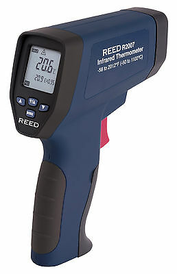 REED R2007 Dual Laser Infrared Thermometer, 50:1, 2012°F (1100°C)