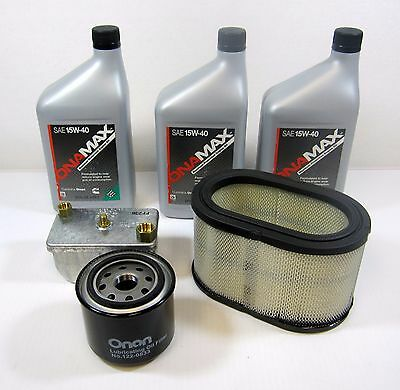 Onan OEM Tune Up Filter Kit W Oil For RV Quiet Diesel Generator HDKAJ  Spec A-L