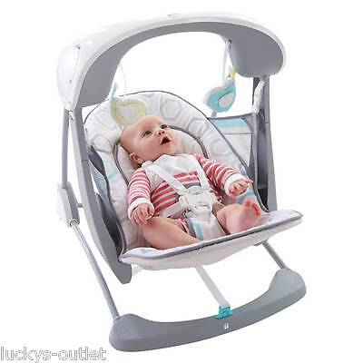 Fisher-Price Deluxe Take-Along Portable Baby Swing & Seat Saturn Snuggle CHN35