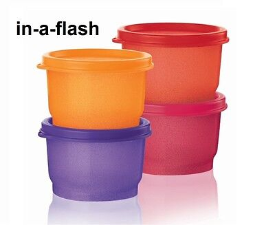 Tupperware BE DAZZLED SNACK CUPS 4-pc SET/4 oz Sparkle Glitter Small Containers