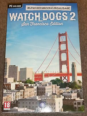 PC DVD ROM New Sealed Watch Dogs 2 San Francisco Collectors Edition FREE UK P&P