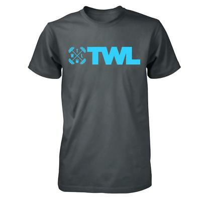 New TWL Men's T-Shirt - Icon - Dark Grey & Blue from The WOD Life