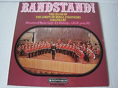 """Bandstand The Band Of The Corps Of The Royal Engineers Chatham Vinyl LP 12"""""""