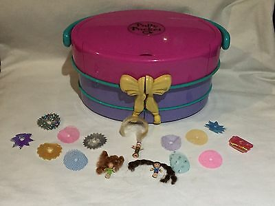 polly pocket 1995 Light up fashion show - HATBOX 100% Complete  ULTRA RARE