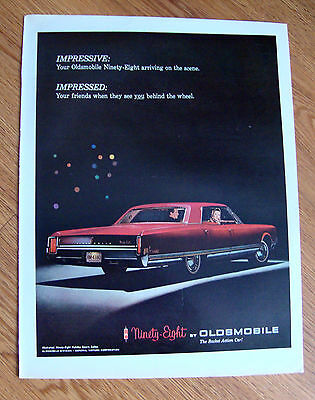 1965 Oldsmobile Ninety-Eight 98 Holiday Sports Sedan Ad