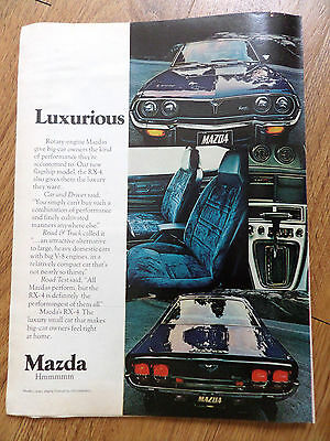 1975 Mazda RX-4 Rotary Ad  Luxurious