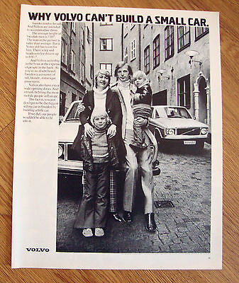 1972 Volvo Ad Why Volvo Can't Build a Small Car