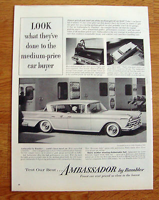 1959 Rambler Ambassador Ad Entrance of Ohio Turnpike at Toledo