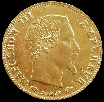 1860 A Gold France 5 Francs Napoleon Iii Coin Au  Condition