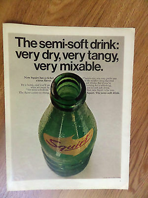 1969 Squirt Soda Ad The Semi-Soft Drink Very Dry Tangy Mixable
