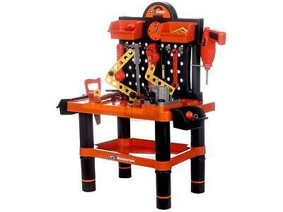 New Pretend Toy Kid Working Bench Battery Operated Screw Driver Tool Set (57008)