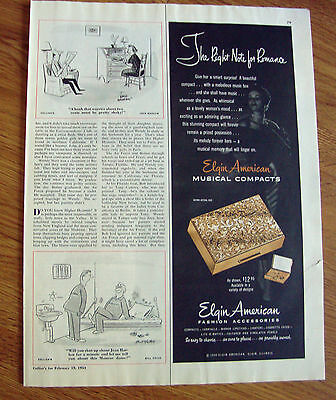 1954 Elgin American Jewelry Ad  Musical Compacts