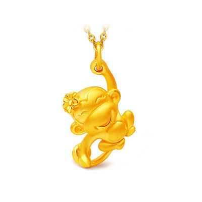 New Women Necklace Gold Plated Chain Chinese Style Monkey Pendant Jewelry