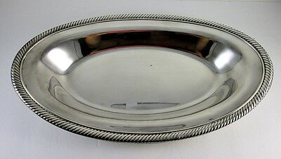 "International Silver Co. Oval Bread Tray - Silver Plated 12"" x 7"" - Vintage"