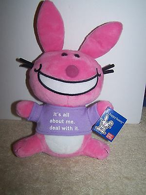 Gund It's Happy Bunny It's All About Me.  Deal With It Plush Rabbit