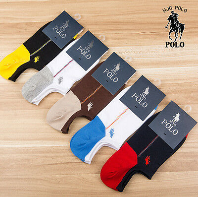 Men socks POLO 5 Pairs/lot Athletic Casual breathable Cotton  No-Show Socks