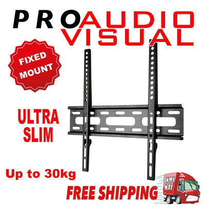 "Slim TV Wall Fixed Mount Bracket for 23"" - 46"" LED LCD Display VESA 400X400mm"