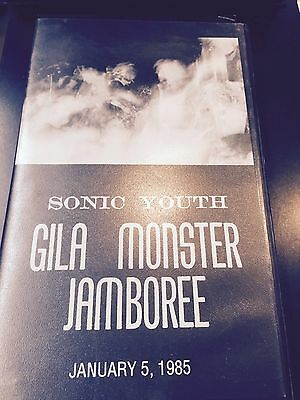 Rare Official Sonic Youth Oop Vhs Never On Dvd Gila Monster 1985 Live In Mojave