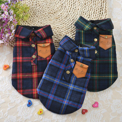 Pet Dog Winter Warm Thickening Shirt Jacket Clothes Puppy Cat Clothing Apparel