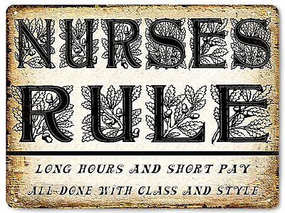 NURSE funny metal VINTAGE style SIGN  great gift plaque wall decor art 548