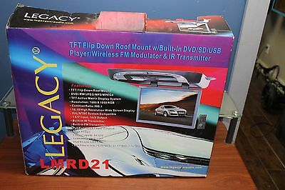 """Legacy TFT Flip Down Roof Mount 19"""" DVD Player SD and USB Player Model LMRD21"""