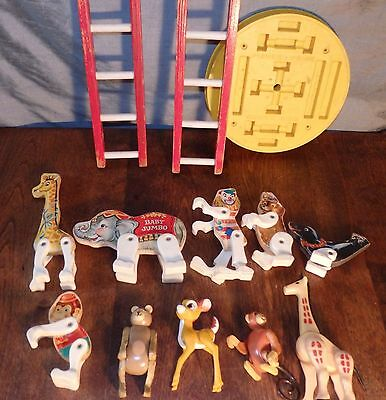 Lot of Vintage Fisher Price Circus Animals and Accessories