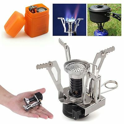 Foldable Mini Backpacking Camping Stove Portable Outdoor Picnic Gas Burner&Case