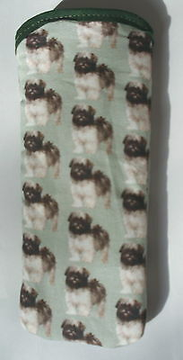 Bn Llaso Apso Puppies   All Over  Cotton Glasses Case