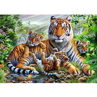 5D DIY Tigers Pattern Diamond Painting Cube Diamonds Embroidery Landscapes New