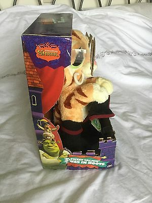 """SHREK Sweet Talkin' Puss In Boots Plush 14"""" Interactive Soft Toy With Sound"""