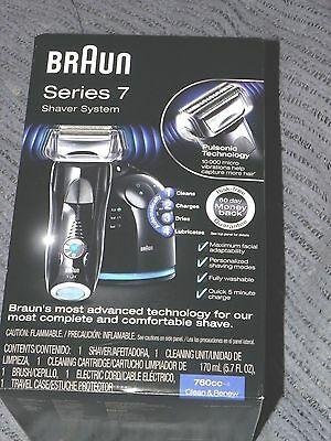 NEW Braun Series 7 760cc-4 Cord/Cordless Rechargeable  Men's Electric Shaver