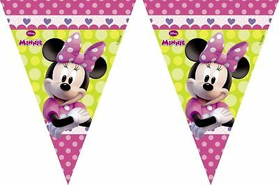 Minnie Mouse Bow-Tique 2.3m Flag Banner - Birthday Party Bunting Decorations