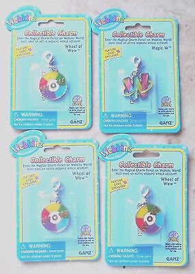 Webkinz Collectible Charms 4 Charms ---New and Sealed
