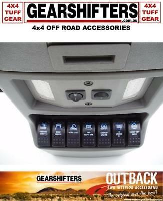 Outback Accessories 4X4 Roof Console Rocker Switch Insert Panel Seven Switches