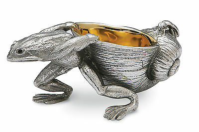 Silver Plated Frog Table Salt / Pinch Pot / Dish (Brand New)