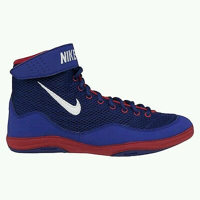 Nike Inflict Wrestling Shoes Royal Blue & Red (size 10)