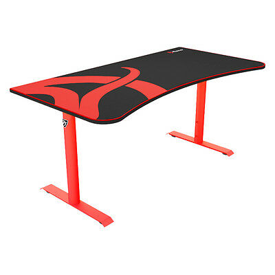 Arozzi ARENA-NA-RED - Arena Red Gaming Desk with Mouse Pad