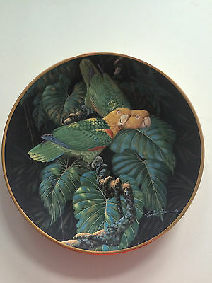 Lenox Miracles of Rainforest Yellow Headed Amazon Plate Collectors Parrot Bird